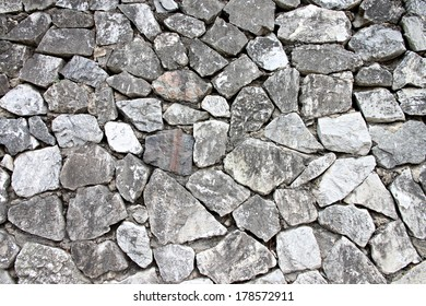 Stone wall texture of background.