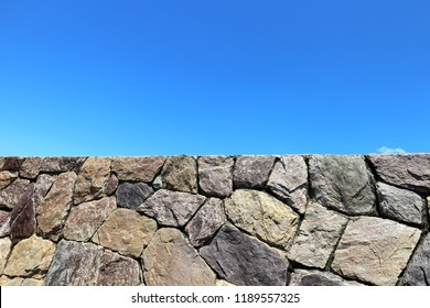 Stone wall vintage building background