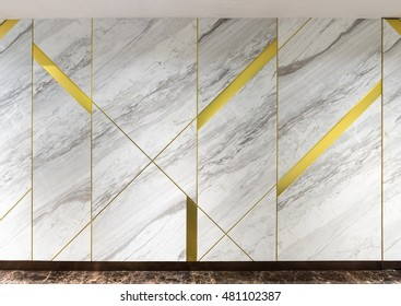 Stone walls line stainless of gold.
