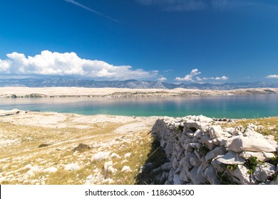 Stone Walls on the beautiful Island of Pag, Croatia, Europe