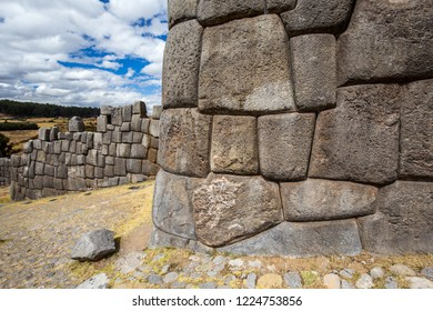 The stone walls of Sacsayhuaman. Cusco, Peru.