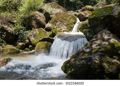 Stone and water in the mountains
