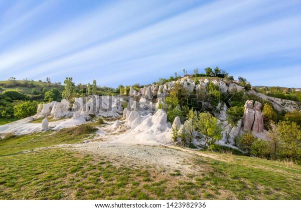 Stone wedding limestone formation near Kardzhali city in Bulgaria