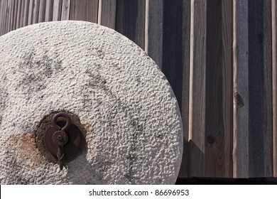 Stone wheel of a rare and unique portuguese windmill