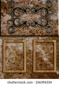 stone and wood background