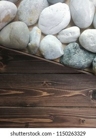 stone and wooden wall background. Nature background. wood texture and  rock or nature stone background. stock photo