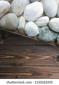 stone and wooden wall background. Nature background, wood texture and  rock or nature stone background. stock photo