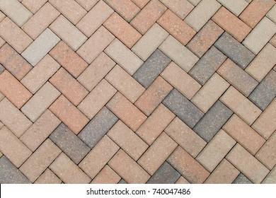 Stone work, pavers on a brick path.