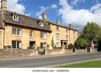 Stone-built cottages in the Cotswolds town of Chipping Campden, Gloucestershire, England