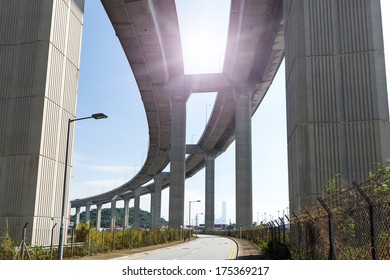 Stonecutters Bridge and the Tsing sha highway