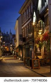 Stonegate York England at night taken on the 31/07/2016