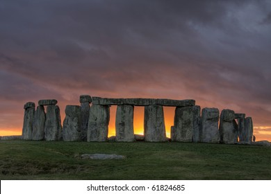 Stonehenge an ancient prehistoric stone  monument near Salisbury Wiltshire UK