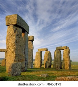 Stonehenge an ancient prehistoric stone monument near Salisbury, Wiltshire, UK, UNESCO World Heritage Site