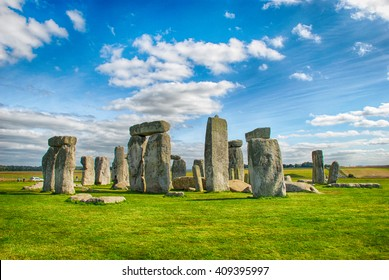 Stonehenge with Blue Sky