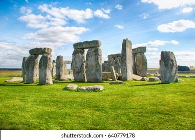 Stonehenge with Blue Sky