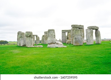 Stonehenge with Blue Sky in the background in England.