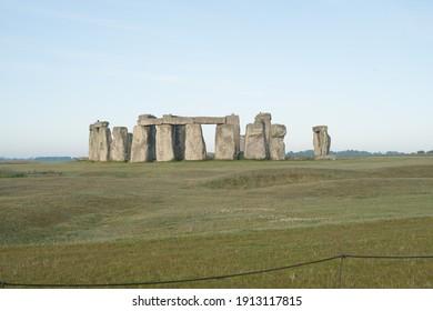 Stonehenge with Blue Sky at sunrise