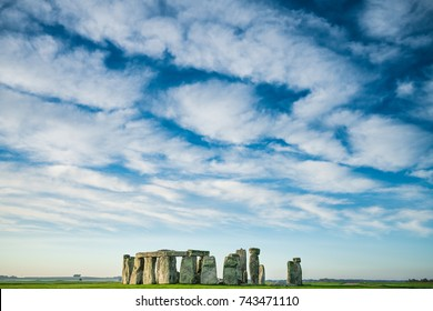 Stonehenge with clouds   England