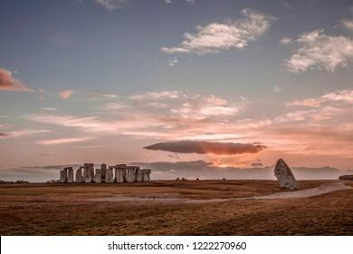 Stonehenge during an autumn sunset
