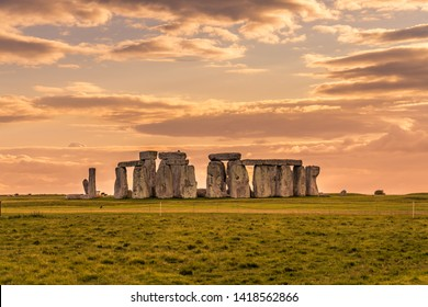 Stonehenge during an summer sunset