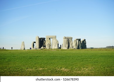 Stonehenge England.The mysterious and ancient Unesco World Heritage Site at Salisbury Plain, UK, England. Massive standing megalith stones.