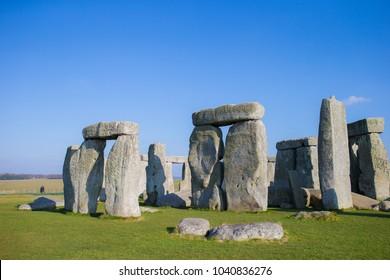 stonehenge on blue sky