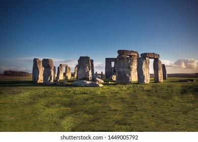 Stonehenge Prehistoric Monument at dusk