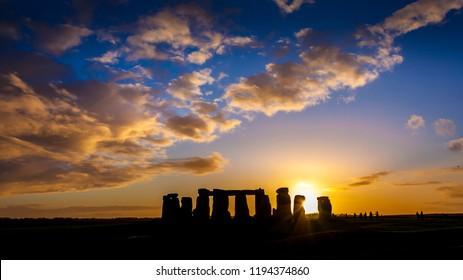 Stonehenge at snset