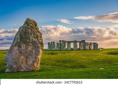 Stonehenge at sunset in England