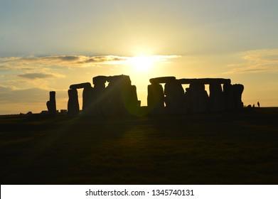 Stonehenge Sunset Winter Solstice England