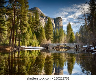 Stoneman bridge in morning light at Yosemite National Park