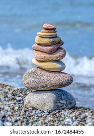 Stones in balance, calm and stability