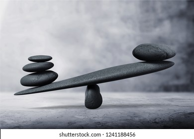 Stones Balancing concept