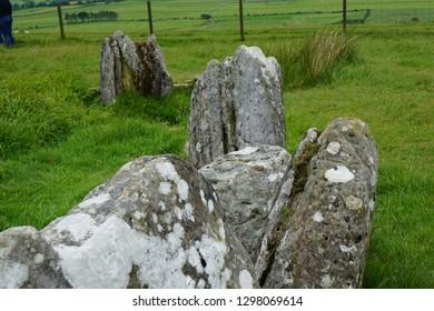 stones of burren national park, in Ireland