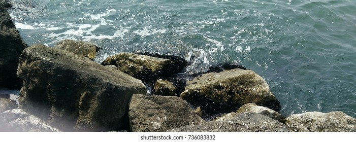 Stones by the sea  - Shutterstock ID 736083832