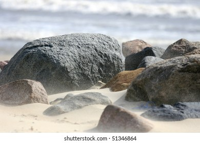 Stones at a danish beach