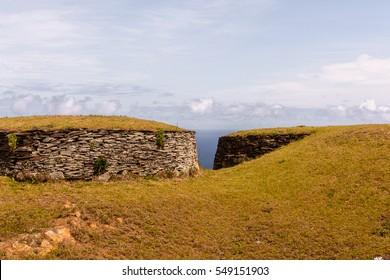 Stones of the Easter Island (Isla de Pascua), Chile, South America
