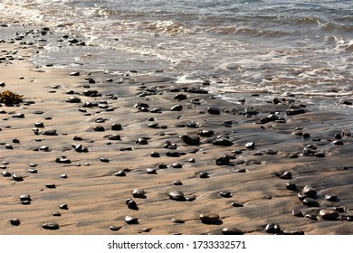 Stones formation on the beach