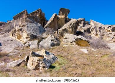Stones at the Gobustan national park, Azerbaijan