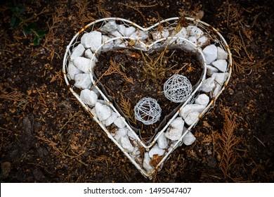 Stones in a heart shape