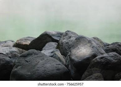 Stones and hot smoke