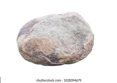 stones isolated on white background.Big granite rock stone,rock stone isolated on white background.