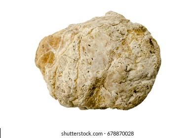 stones isolated on white background.Big granite rock stone,.rock stone isolated on white background.