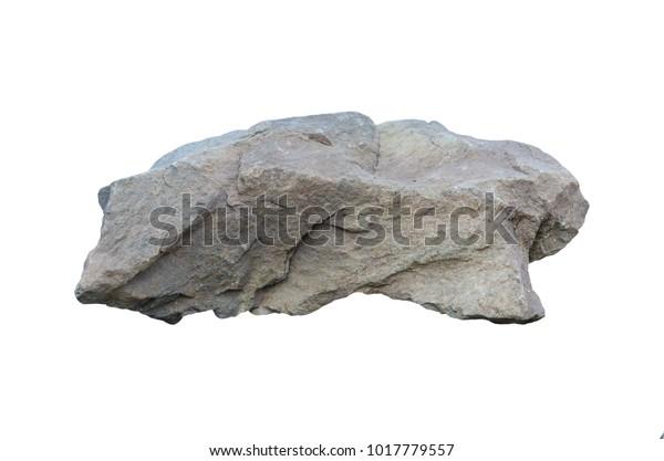 Stones Isolated On White Background Granite Stock Photo