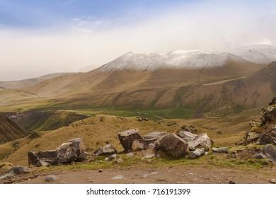 Stones in the mountains to Dzhily-Su.North Caucasus.