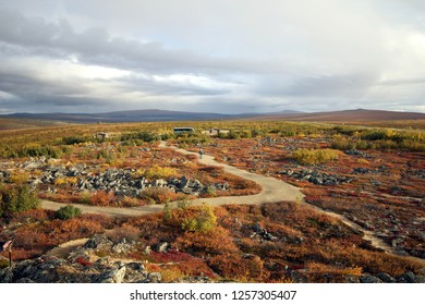 Stones next to Dalton highway Alaska