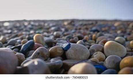 stones on a beach in Ireland