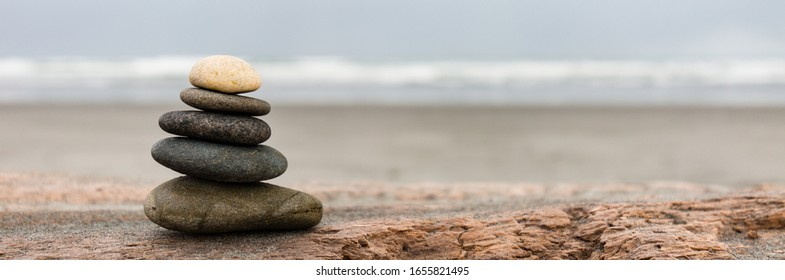 stones on beach in the sand
