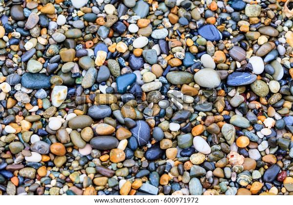 stones on the beach. stone background