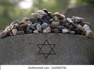 Stones on a Jewish grave